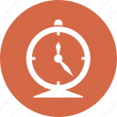 clock, deadline, red, time management icon