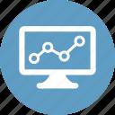 analytics, blue, chart, graph, square, statistics icon