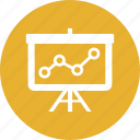 analysis, diagram, graph, presentation, seo icon