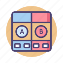 a b testing, ab testing, experiment, split test, test, testing icon