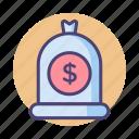 cash, dollar, finance, income, money, money bag