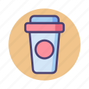 beverage, coffee, cup, drink, packaging, takeaway icon