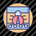 bug, bug fixing, error, glitch, malware, virus icon