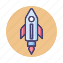 campaign, launch, rocket, startup icon