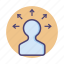 expansion, growth, promotion icon