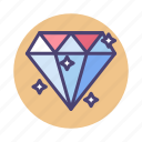 clean code, crystal, diamond, gemstone, high quality, hq, premium icon