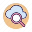 browse, cloud search, find, search, view, zoom icon