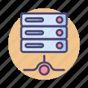 data, database, hosting, lan, rack, server icon