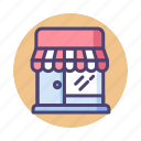 market, retail, shop, shopping, store, storefront icon