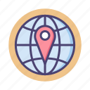 global, globe, international, local search, location, navigation icon