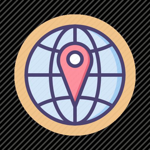 global, globe, international, local search, location, navigation icon