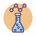 experiment, market, research, solution, test icon