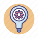 idea, inspiration, light bulb, marketing icon
