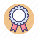 achievement, award, badge, medal, page, rank icon