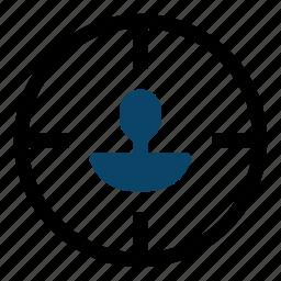 crosshair, goal, marketing, search engine optimization, seo, target, targeting icon