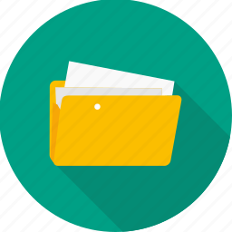 business, documents, file, folder, paper icon
