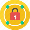 access, key, lock, padlock, protect, protection, secure icon