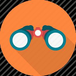 astronomy, binocular, binoculars, explore, spyglass icon