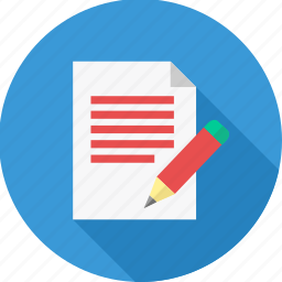 business, dictation, document, note, page, paper, write icon