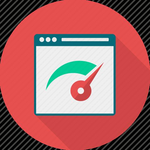 analysis, performance, speed, speedometer icon