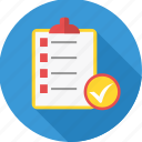 business, checklist, clipboard, list, report, tickmark icon