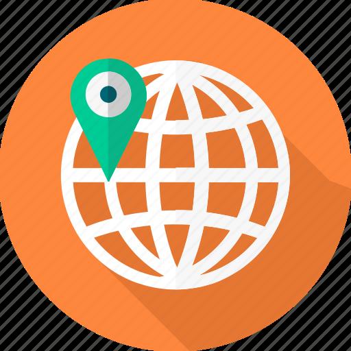 gps, location, navigation, seo, web icon