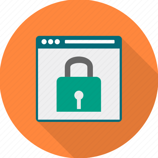 lock, page, password, protection, security, webpage icon