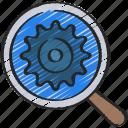 cog, cogwheel, engine, optimisation, optimise, search icon