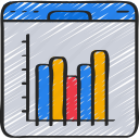 barchart, browser, data, linegraph, website, window icon