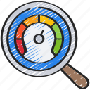 chart, measure, performance, piechart, research icon