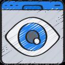 browser, eye, seo, visualisation, visualise, website