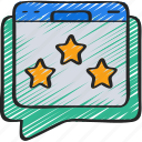 comment, feedback, ratings, review, seo, website icon