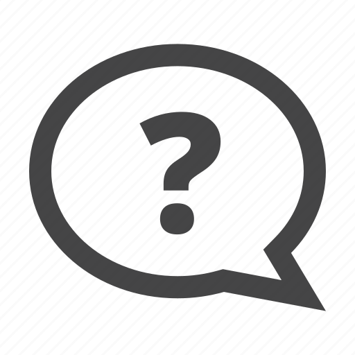 about, faq, help, hint, message bubble, question icon