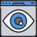 browser, eye, seo, visualisation, visualise, website icon