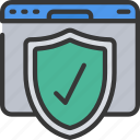 badge, browser, online, security, seo, website icon