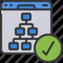 algorithm, friendly, hierarchy, seo, site, structure icon