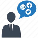 human, mobile marketing, seo icons, seo services, social, talk, web design icon