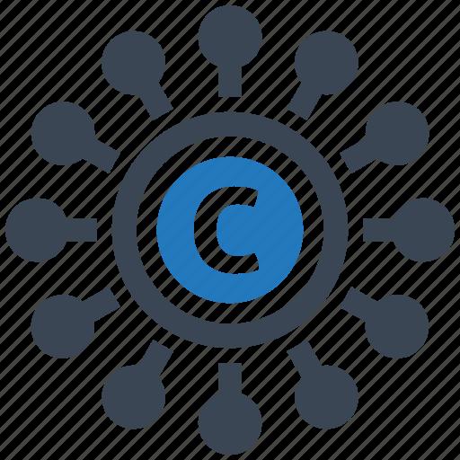 copyright, mobile marketing, seo icons, seo pack, seo services, web design icon