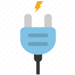 cable, charging, electricity, energy, lightning, plug, power icon