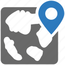 direction, location, map pin, seo icon