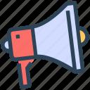 loudspeaker, marketing, megaphone, promotion, seo icon