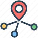 direction, location, map pin, marker, seo icon