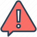 alert, attention, message, seo, warning icon