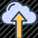arrow, cloud, seo, up, upload
