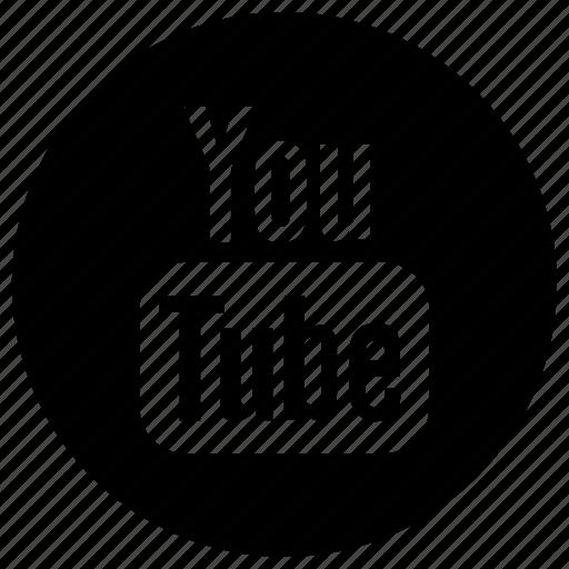 circle, circular, logo, round, user interface, web, youtube icon