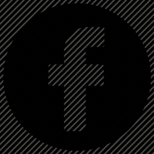 circle, circular, facebook, logo, round, user interface, web icon