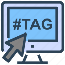 click, hashtag, internet, monitor, number, seo, web