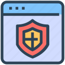 browser, protect, security, seo, shield, web, webpage