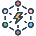 connection, flash, link, seo, thunder icon