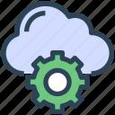cloud, gear, seo, settings, storage